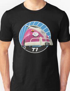 VW Type 2 Transporter T1 pink Unisex T-Shirt