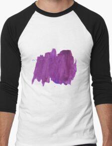 Handmade Abstract Watercolor Texture  Men's Baseball ¾ T-Shirt