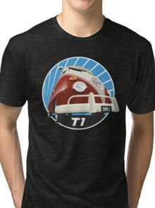 VW Type 2 Transporter T1 red Tri-blend T-Shirt