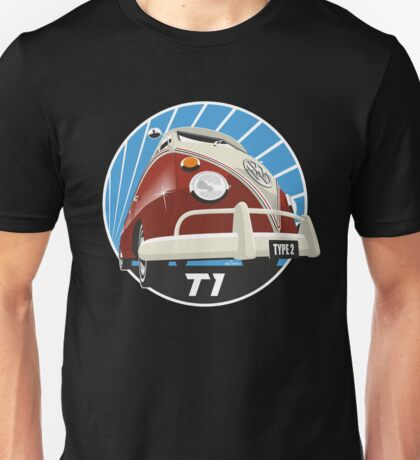 VW Type 2 Transporter T1 red Unisex T-Shirt