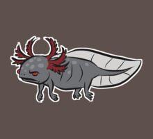 Grumpy Axolotl by blackmudpuppy