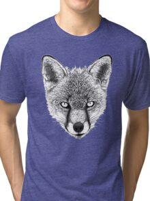 Fox Head Ink Drawing Tri-blend T-Shirt
