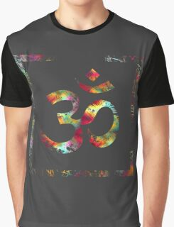 Tie Die Painted Ohm Symbol Squared Graphic T-Shirt