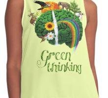 Green Thinking - love of Nature   Pensamiento en verde - amor por la Naturaleza Contrast Tank