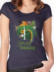 Green Thinking - love of Nature | Pensamiento en verde - amor por la Naturaleza Women's Fitted Scoop T-Shirt