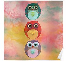 Three Little Owlets Poster