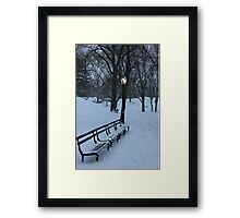 Park Bench, NYC Framed Print