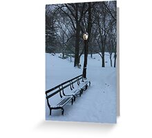 Park Bench, NYC Greeting Card