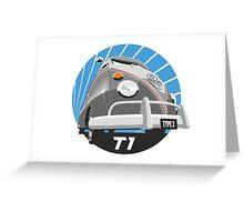 VW Type 2 Transporter T1 grey Greeting Card