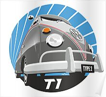 VW Type 2 Transporter T1 grey Poster