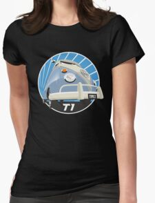 VW Type 2 Transporter T1 light blue Womens Fitted T-Shirt