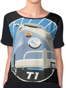 VW Type 2 Transporter T1 light blue Chiffon Top