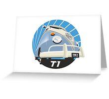 VW Type 2 Transporter T1 light blue Greeting Card