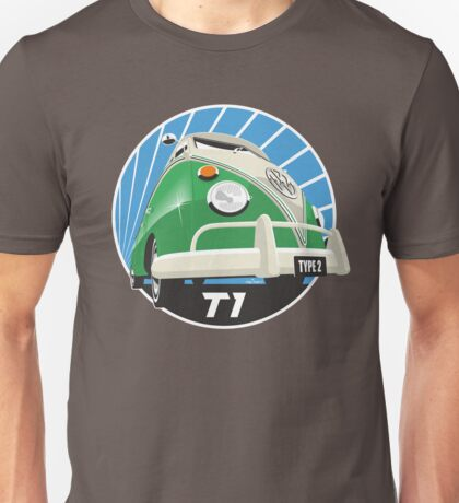 VW Type 2 Transporter T1 bright green Unisex T-Shirt