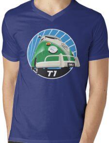 VW Type 2 Transporter T1 bright green Mens V-Neck T-Shirt