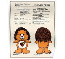 Brave Heart Lion Patent Poster