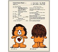 Brave Heart Lion Patent Photographic Print
