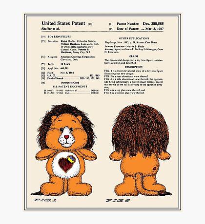 Brave Heart Lion Patent Photographic Print