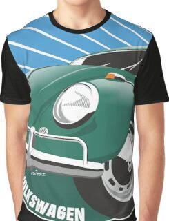 Sixties VW Beetle green Graphic T-Shirt
