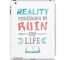 Ruin My Life - Blue and Red iPad Case/Skin