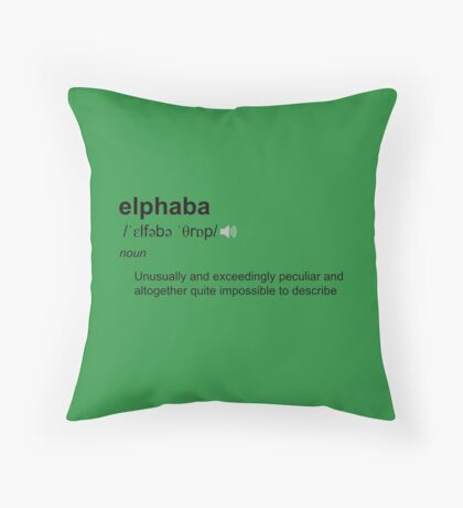 Wicked definition - Elphaba Throw Pillow