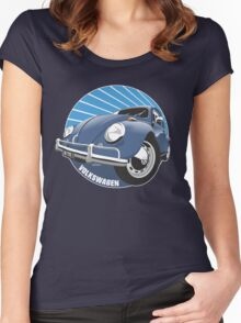Sixties VW Beetle blue Women's Fitted Scoop T-Shirt