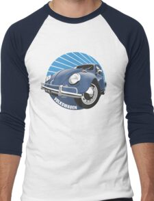 Sixties VW Beetle blue Men's Baseball ¾ T-Shirt