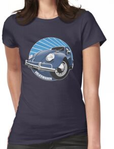 Sixties VW Beetle blue Womens Fitted T-Shirt