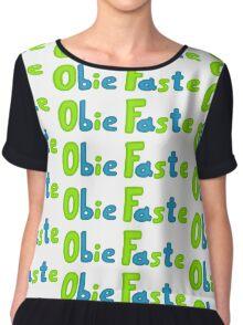Obie Faste Logo Chiffon Top