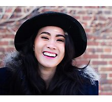 woman wearing a hat Photographic Print