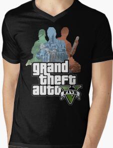 Grand Theft Auto V - Minimalistic Mens V-Neck T-Shirt