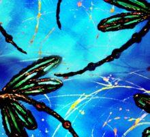 "Dragonfly Flit ""Electric Blue"" Sticker"