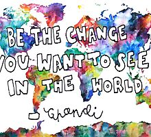 ghandi quote by artbyeilidh