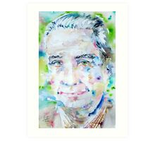 ROLAND BARTHES- watercolor portrait Art Print