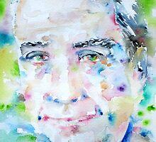 ROLAND BARTHES- watercolor portrait by lautir