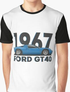Ford GT40 (Mk1) (blue) Graphic T-Shirt