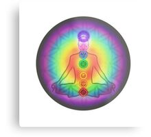 Meditation & the Chakras Metal Print