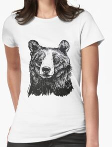 Ink Bear Womens Fitted T-Shirt