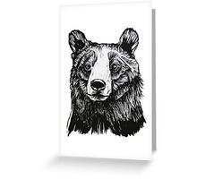 Ink Bear Greeting Card