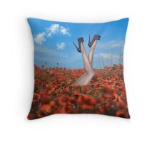 Throw Cushion - Poppy Throw Pillow