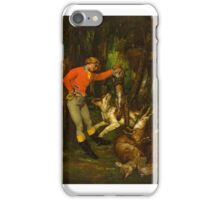 After the Hunt , Gustave Courbet iPhone Case/Skin