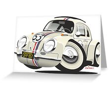 Herbie the Love Bug caricature Greeting Card
