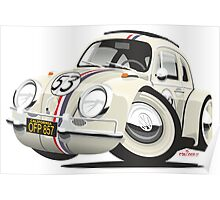 Herbie the Love Bug caricature Poster