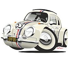 Herbie the Love Bug caricature Photographic Print