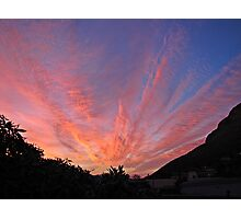 Mountain and clouds highlighting sunset 2 Photographic Print