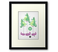 Dragons Ride Rhinos Framed Print
