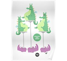 Dragons Ride Rhinos Poster