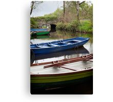 Colorful Row Boats Canvas Print