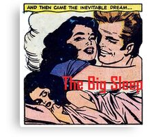 The Big Sleep Retro Comic Romance Canvas Print