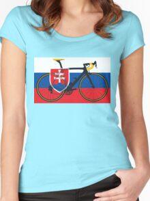 Bike Flag Slovakia (Big - Highlight) Women's Fitted Scoop T-Shirt